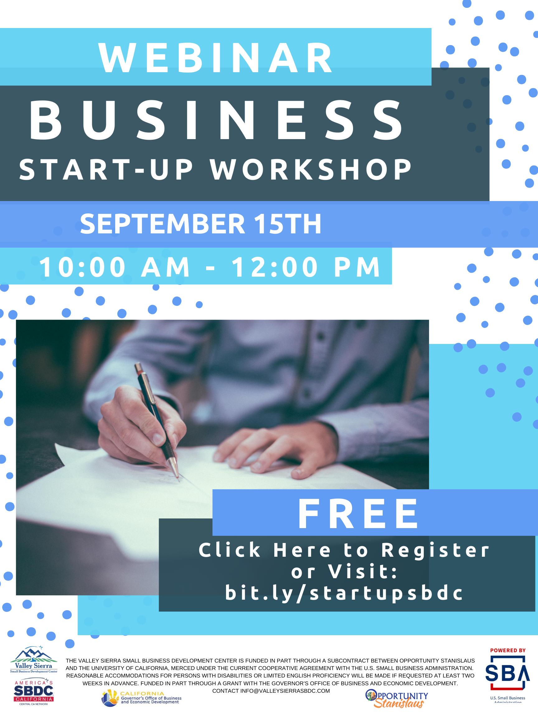 business start-up flyer