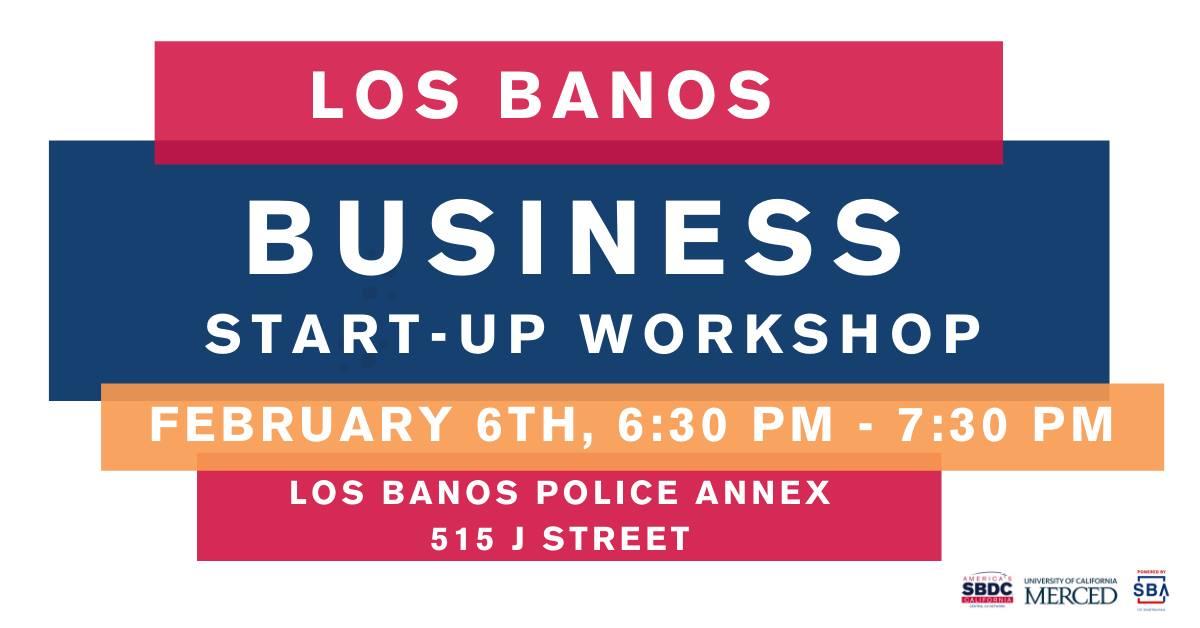 Los Banos Business Start Up header image