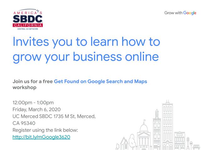 Merced Google My Business header image